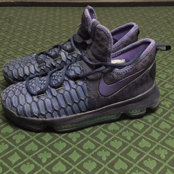 Norma Renacimiento Abierto  Nike Shoes | Nike Kd 9 Obsidian Dark Purple Gs Shoe Size 6y | Poshmark